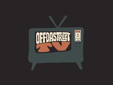 OffDaStreet TV tshirtdesign tshirt rap television retro hiphop channel youtube tv jerryokolo itsjerryokolo logo designer custom lettering handlettering logotype procreate clientwork typography hand drawn