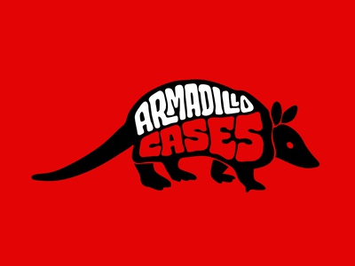 Armadillo Cases armor armorcases stickers ecommerce phonecases cases armadillo jerryokolo itsjerryokolo logo designer custom lettering handlettering logotype procreate clientwork hand drawn typography