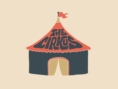 The Cirkus flag creative tent jerry circus logo logotype designer custom lettering itsjerryokolo jerryokolo handlettering logotype procreate clientwork hand drawn