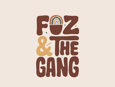 Foz and the Gang clothing brand sweater fur ecommerce shop clothing ecommerce jerryokolo logodesign lettering logo designer custom lettering handlettering logotype procreate clientwork typography hand drawn