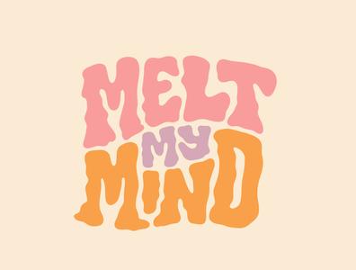 Melt My Mind logodesign lettering logo designer itsjerryokolo jerryokolo logo design illustration custom lettering handlettering logotype procreate clientwork typography hand drawn
