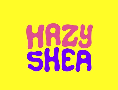 Hazy Shea marijuana logo psychedelic hazy sativa cannabis marijuana clientwork handlettering procreate itsjerryokolo logodesign jerryokolo logotype logo designer hand drawn typography
