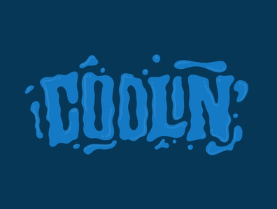 Coolin' tshirtdesign tshirt blue cool lettering logo designer handlettering itsjerryokolo jerryokolo logotype procreate clientwork hand drawn typography