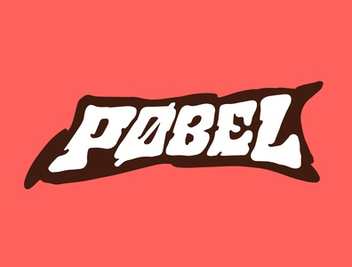 Pobel recording artist musician record label music record design jerryokolo logo designer custom lettering handlettering logotype procreate clientwork hand drawn typography