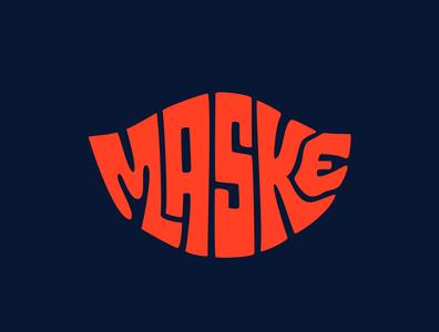 Maske clothing brand clothing mask facemask covid19 corona virus covid-19 coronavirus design logo illustration custom lettering handlettering logotype procreate clientwork hand drawn typography