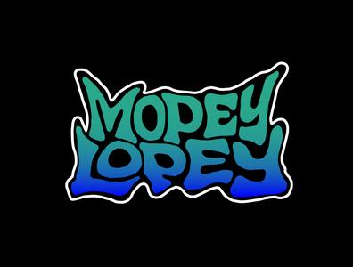 Mopey Lopey stickerdesigner stickerdesign sticker logo designer logo digitalart handlettering custom lettering illustration logotype designer jerryokolo itsjerryokolo logodesign lettering typography logotype procreate hand drawn clientwork