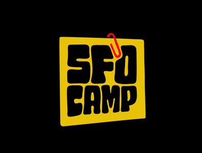 SFO CAMP office graphicdesign san francisco bootcamp camp paperclip digital art itsjerryokolo jerryokolo logo designer custom lettering handlettering logotype procreate clientwork hand drawn typography