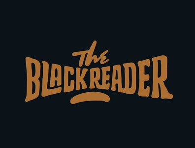 The Black Reader logo design library graphic design teespring shopify read reader tshirt design tshirt library jerryokolo itsjerryokolo logo designer handlettering custom lettering logotype procreate clientwork hand drawn typography