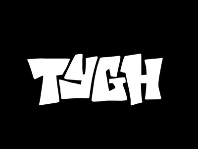 TYGH graphic design merch apparel clothing tshirt design tshirtdesign graffiti tshirt logotype designer itsjerryokolo jerryokolo logodesign lettering logotype procreate clientwork hand drawn typography