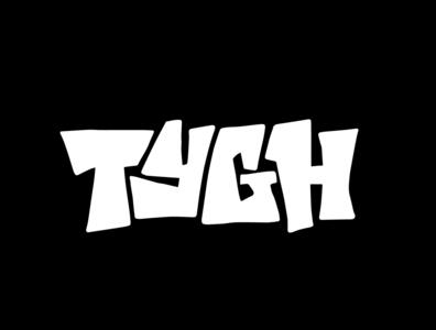 TYGH graphic design merch apparel clothing tshirt design tshirtdesign graffiti tshirt logotype designer itsjerryokolo jerryokolo logodesign lettering logotype procreate clientwork hand drawn typography