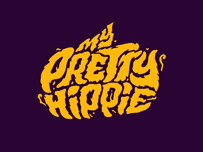 My Pretty Hippie hemp logo marijuana hemp illustration logotype designer logo digitalart itsjerryokolo jerryokolo logodesign logo designer handlettering custom lettering logotype procreate clientwork hand drawn typography