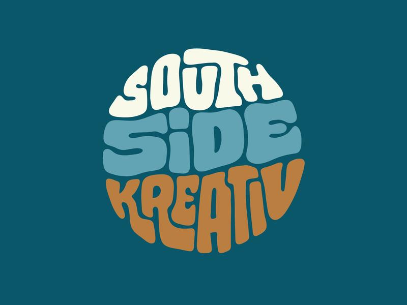 Southside Kreative tshirt south creative kreative itsjerryokolo jerryokolo procreate clientwork hand drawn typography illustration handlettering custom lettering logotype