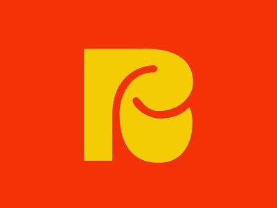 R icon monogram logo icon monogram lettering handlettering custom lettering digitalart itsjerryokolo jerryokolo logotype logo designer procreate clientwork hand drawn typography