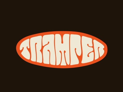 Tramper tshirt tramp psychedelic engineer engine logo designer handlettering itsjerryokolo jerryokolo custom lettering logotype procreate clientwork hand drawn typography