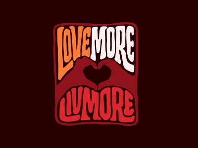 Love More Livmore tshirtdesign tshirt heart love design logotype designer digitalart logo designer handlettering custom lettering logotype procreate clientwork hand drawn typography