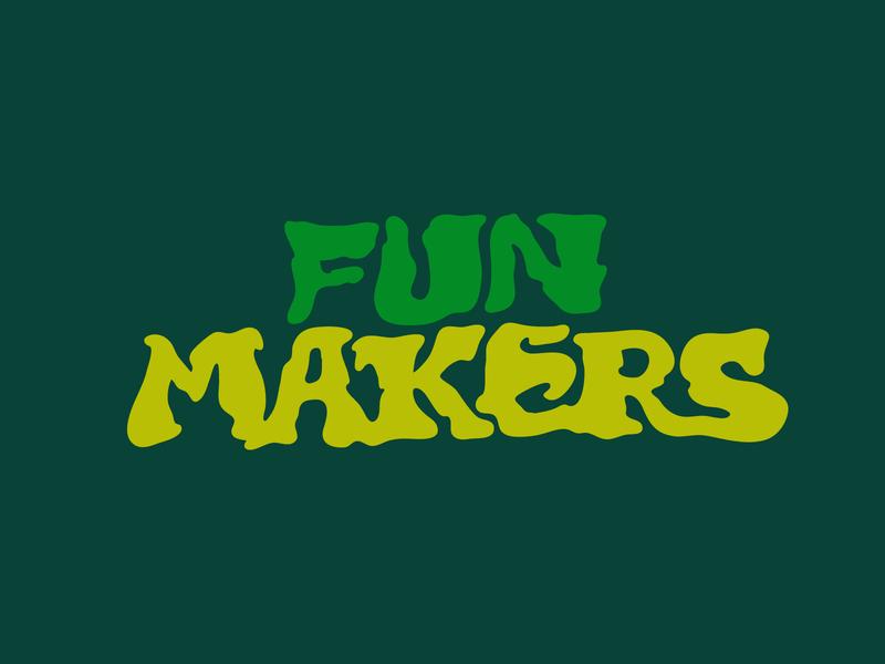 Fun Makers tshirtdesign hand lettering fun play tshirt marijuana custom lettering itsjerryokolo jerryokolo logotype procreate logo designer illustration clientwork hand drawn typography