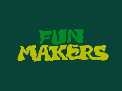 Fun Makers tshirtdesign hand lettering fun play tshirt marijuana custom lettering itsjerryokolo jerryokolo logotype procreate logo designer illustration clientwork hand drawn typography