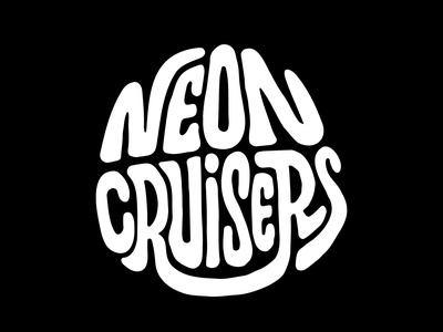 Neon Cruisers design logo pennyboard skateboard skate itsjerryokolo illustration handlettering custom lettering logotype procreate clientwork typography hand drawn