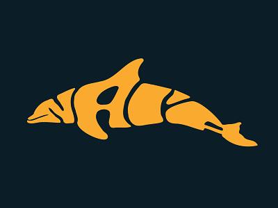 Nai'a lettering tourist tourism stickermule hawaii tshirtdesign tshirt logo design illustration handlettering jerryokolo itsjerryokolo dolphin custom lettering logotype procreate clientwork typography hand drawn