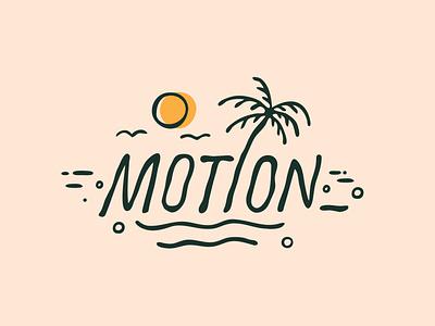 Motion typography jerryokolo indonesia palm tree handlettering design illustration digitalart summer bali beach clientwork logo designer custom lettering logotype hand drawn