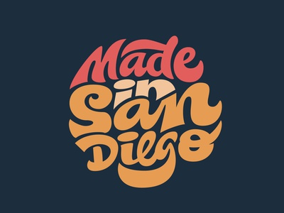Made in San Diego script california san diego logotypedesign logotype designer custom lettering digitalart logotype procreate handlettering illustration lettering typography clientwork hand drawn