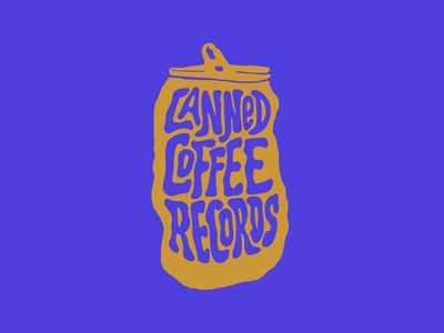 Canned Coffee Records logotype logodesign digitalart recordlabel record coffee lettering logo designer custom lettering handlettering procreate clientwork typography hand drawn