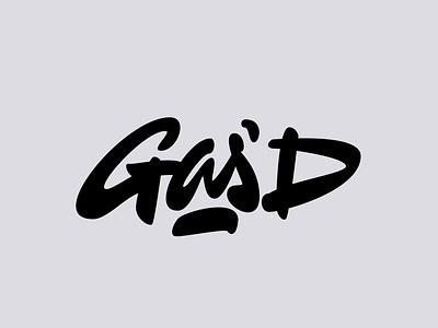 Gas'D jerryokolo ecommerce shopify clothing logodesign logotype designer custom lettering logo handlettering procreate clientwork typography logotype hand drawn
