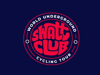 Swatt Club biking bike tour cycling kit cyclist cycling jerryokolo logotypedesign logodesign digitalart logo designer custom lettering handlettering procreate clientwork typography hand drawn