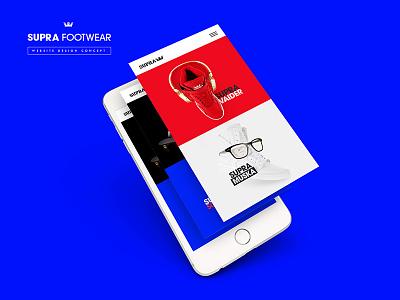 Supra Footwear Website Mobile shoe supra mobile website sneaker ux ui