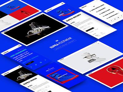 Supra Footwear Website shoe ux ui website sneaker