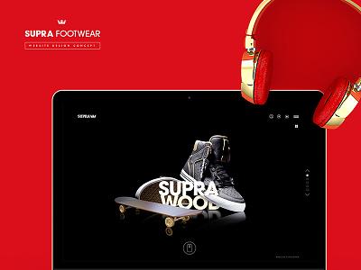 Supra Footwear shoe ux ui website sneaker