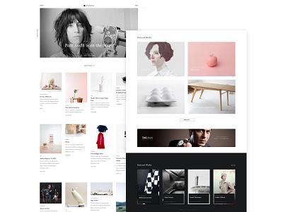 Hypemag Final ux ui landing page art minimalist clean typography magazine