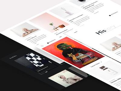 Hypemag ux ui typography minimalist magazine page landing clean art
