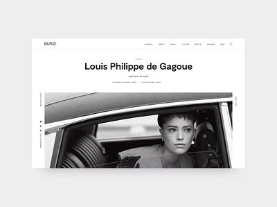 A Global Luxury Online Magazine luxury bold article prototype parallax ui typography magazine clean