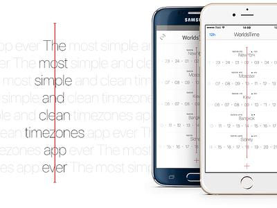 WorldsTime's app image  image schedule world clock timezones app ui ux android worldtime