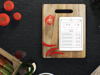 Wine-List App ipad restaurant dribble themakeapp ui ux ios menu app winelist list wine