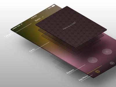 Intuition training app - INTU App clean simple flat appdesign ux ui app training intuition