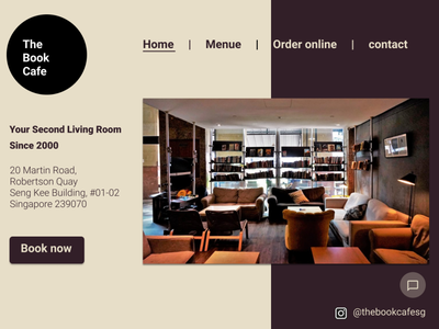 [Book Cafe Redesign] Day 1 Home page_V1 homepage webdesign redesign