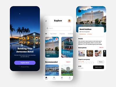 Booking IOS app room booking graphic design flat web app website branding typography design ux ui