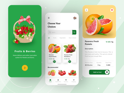 Fruits and vegetables online shop fruits shop fruit and barries shop food app fruits ui fruits mobile app fruits and barries vegetables fruits and vegetables online fruits ecommerce android design android app android ux ui typography graphic design design app