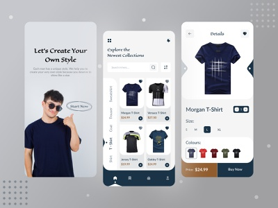 Clothing Store Mobile App t shirt store online shop online store clothes e commerce app clothes e commerce clothing store app t shirt app t shirt clothing store clothing clothes store clothes android design android app android ui typography design app
