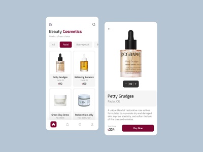 Organic Beauty Products new design best ui design trendy design organic beauty product skin care app beauty app beauty care app mobile app beauty product beauty android app android ui typography design app