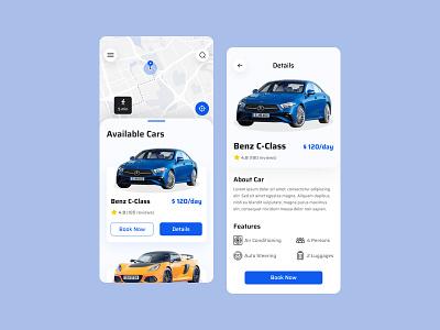 Car Rental App best ui design rent a car space app concept mobile app best ui trendy design ui ux design ux car rental app car rental car android app android ui typography design app