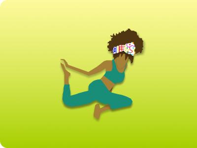 Yoga Girl App Icon adora horton app icons mobile icon design daily ui 005 icon design yoga feminine design black yogi yoga logo yoga pose yoga icon mobile ui design logo figma design product design daily ui