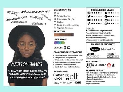 Makeup App User Profile/Persona makeup app user profile user persona ux research ux ui ux user interface
