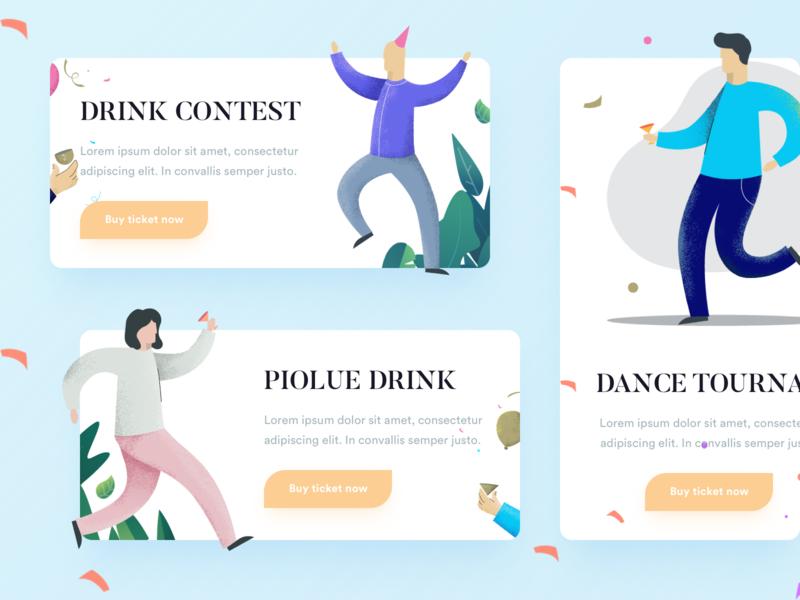 Event Illustrations app icons ux web ui design illustration