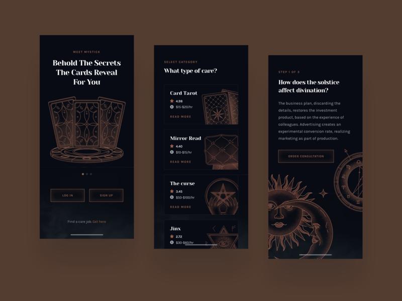 Tarot Layout Pack icon app icons ux ui tarot deck tarot reading tarot card tarot web design illustration