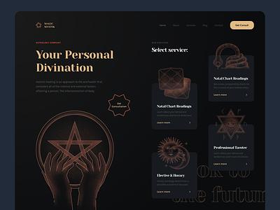 Tarot tarot deck tarot card tarot logo icon app icons ux branding web ui design illustration