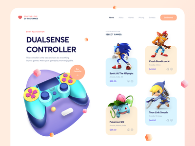 Gaming Controllar app icons ux web branding ui design illustration game joystick controller gaming