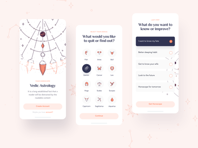 Astrologist - Mobile Version ux web design illustration tarot cards tarot deck tarot card tarot zodiac sign zodiac astronomy astrological astrologer astrology ui design uidesign
